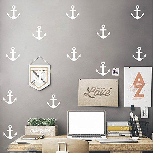 hiff Anker für Kinderzimmer Mode Dekoration Vinyl Entfernbare Hauptdekoration Wand Aufkleber DIY Materialien, Weiß (Ist Halloween-eine Welt, Urlaub)