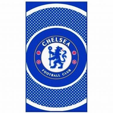 Offizielles Chelsea FC Bullseye Wappen Handtuch