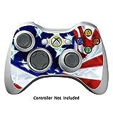 Xbox 360 Controller Designfolie Sticker - Vinyl Aufkleber Schutzfolie Skin für Xbox 360 Controller - Stars & Stripes