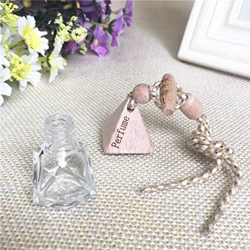 -Diamant-Kristallform Parfüm-Flasche Mode Scent Bottle Auto Schöne Dekoration Flasche (transparent) ()