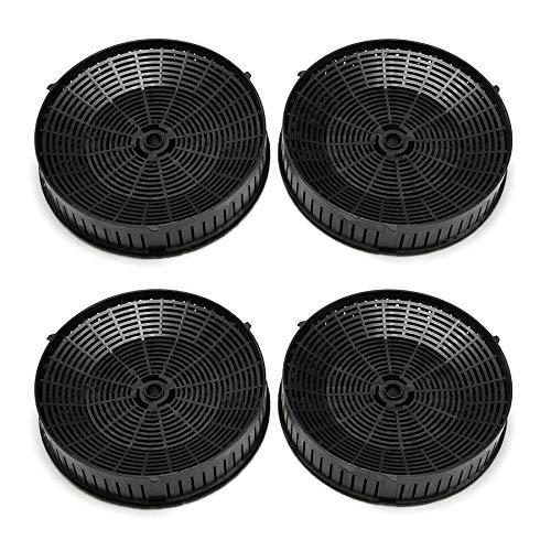Elica CFC0038668 Aktivkohlefilter für Dunstabzugshauben, schwarz, Stück:2 Paar