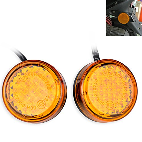 KaTur Waterproof Amber 24 LED Runde Reflektoren Heckbremse Stop Begrenzungsleuchte LKW Anhänger RV ATV Motorrad