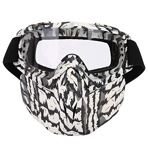 Preisvergleich Produktbild Naroote Sport-Gesichtsmaske,  Outdoor für Motorrad-Motocross Winddichte Anti-UV-Brille(Transparent)