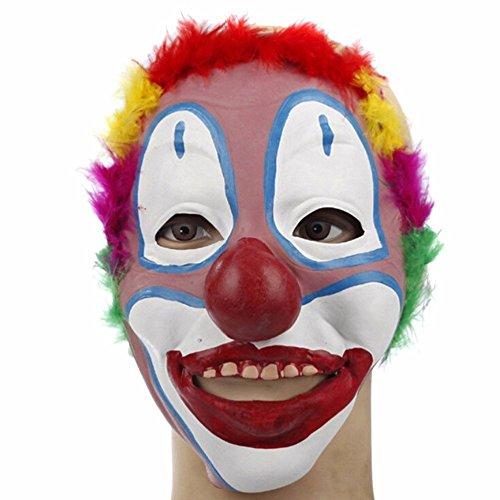 Bello Luna Clown Maske Halloween Latex Cosplay Stützen Maske Maskerade Kostüm Dekoration (Klassische Clown Kostüme)