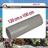 (EUR 5,75 / Quadratmeter) Aquarium Terrarium Rückwandfolie Folie GRAU 120cm x 100cm TOP ! Preistip