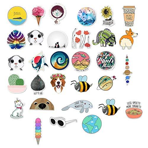 Strungten Aufkleber, 30 Stück Dekorative Aufkleber, Wasserdicht Vinyl Stickers Decals für Auto Motorräd Fahrrad Skateboard Snowboard Gepäck Laptop MacBook Pad Trinkflaschen (30pcs)