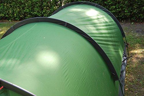 Tunnelzelt everest1953 NEU Zelt 2 1/2 Personen Maipo 2.5 Silikon grün Wassersäule 10000 mm - 6