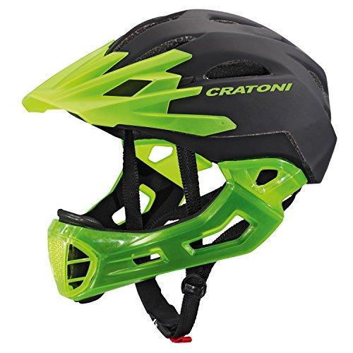 Cratoni C-Maniac Fahrradhelm, Black/Lucentgreen Matt, S-M