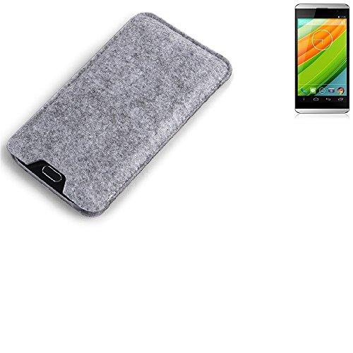 K-S-Trade Filz Schutz Hülle für Hisense HS-U980BE-2 Schutzhülle Filztasche Filz Tasche Case Sleeve Handyhülle Filzhülle grau