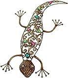Large Dark Metal Wall Art Hanging Gecko