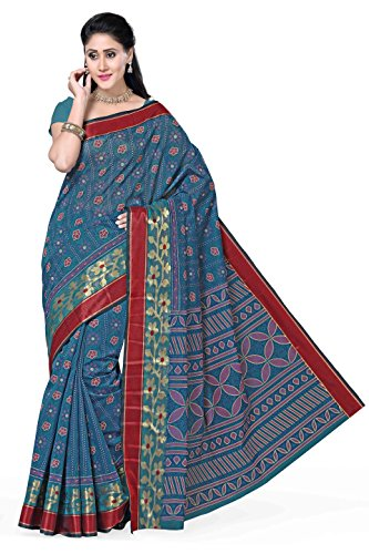 Rani Saahiba Poly Cotton Saree (Skr1100_Blue)