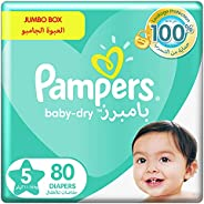 Pampers Baby-Dry, Size 5, Junior, 11-16 kg, Jumbo Box, 80 Diapers