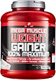 BWG Mega Muscle Weight Gainer 100% Maximum, Muscle Line, Mega Chocolate, Dose mit Dosierlöffel, 1er Pack (1 x 5000g)