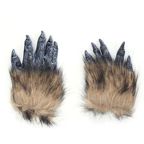 Klauen Krallen Handschuhe Maske - perfekt für Fasching, Karneval & Halloween - Kostüm für Erwachsene - Latex, Unisex Einheitsgröße ()