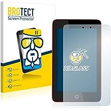 BROTECT AirGlass Protector Pantalla Cristal Flexible Transparente para HP Slate 7 HD Protector Cristal Vidrio - Extra-Duro, Ultra-Ligero, Ultra-Claro