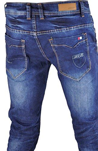 Jeans homme fashion, jeans skinny, jeans sarouel Bleu 1170