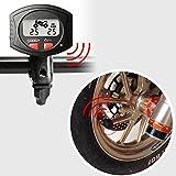 Motocicleta TPMS Sensor de presión de los neumáticos sistema de Monitor pantalla de temperatura y función de alarma con 2externo