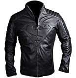 Superman Man of Steel Biker Jacket Black Large