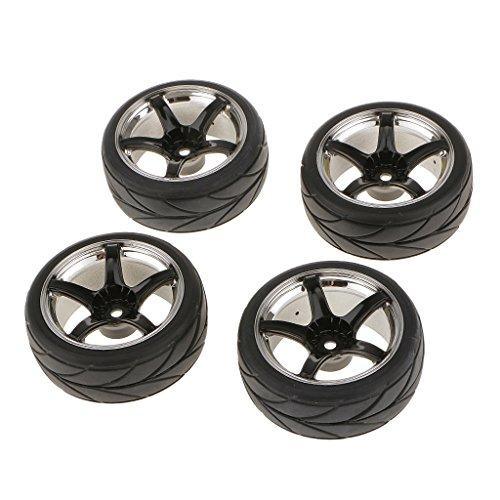 4pcs-5-spoke-neumaticos-y-llantas-negro-plateado-para-rc-1-10-coche-de-carretera