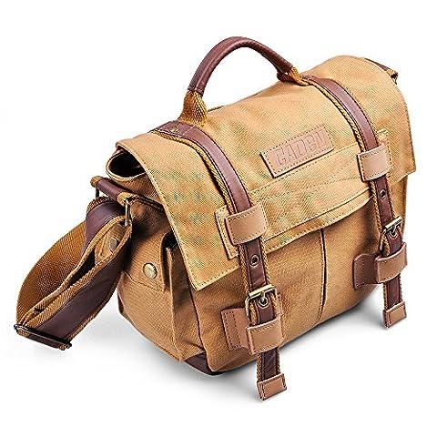 BELK Sac Bandolier Bag Retro Photographie Toile pour le Sport en Plein Air, Case Protector Doublure Construit SLR Sony DSLR SLR pour Canon Olympus