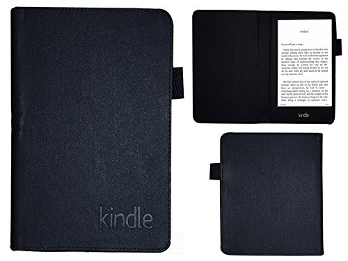 Colorcase Tablet Flip Cover Case for Amazon Kindle Paperwhite Tab – Black