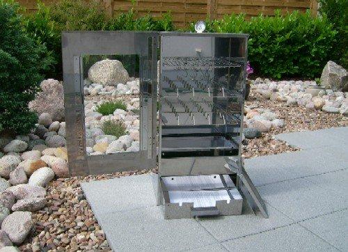 Multifunktions-Räucherofen aus Cr-Edelstahl mit Sichtfenster und Zubehör