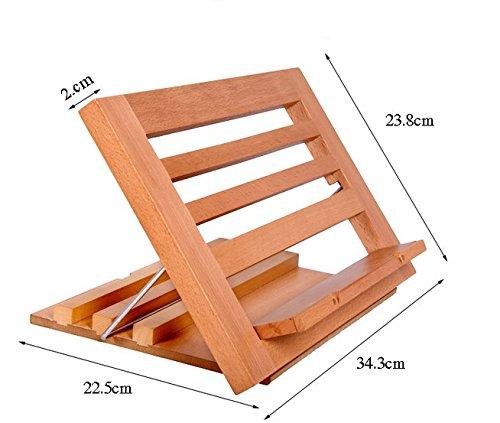 XIAOLE Anti-Myopie Einzel Unterstützung,Doppel Unterstützung aus Holz Bücherregal Lesebuch Buch-Klipp-Halter-Standplatz,34,3 * 22,5 * 23.8cm -
