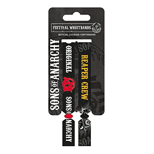 Sons of Anarchy Logo e Reaper Crew Doppia Festival Wristband Set