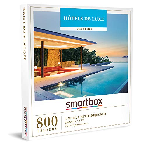 SMARTBOX - Hôtels de luxe - Coffret Cadeau Séjour - 1 nuit avec petit-déjeuner...