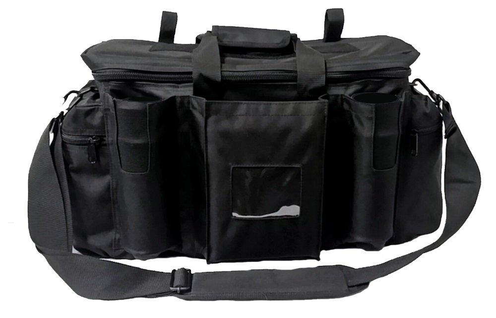 Armeeverkauf-Polizei-Einsatztasche-Tasche-mit-Schulterriemen-und-Fchern-schwarz-Security-bag-Sicherheitsdienst