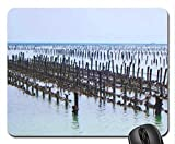 Oyster aquaculture wooden stand Mouse Pad, Mousepad (Oceans Mouse Pad)