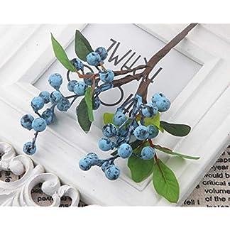 Otun 10 Piezas de Acacia Bean Simulación Berry Artificial Flor Simulación Arreglo de la Planta Accesorios Berry pequeño Blueberry Fruit