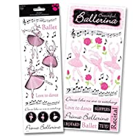 Ballerina Dance Glitter Stickers