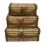 TRINITY Bamboo Set of 3pcs Jewellery Box...