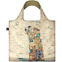 GUSTAV KLIMT The Fulfilment Bag: Gewicht 55 g, Größe 50 x 42 cm, Zip-Etui 11 x 11.5 cm, handle 27 cm, water resistant, made of polyester, OEKO-TEX certified, can carry up to 20 kg