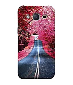 Fuson Designer Back Case Cover for Samsung Galaxy J1 Mini Prime (Painting Scenery Tree Lined Roads )