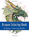 Dragon Coloring Book: Simple Large Print One Sided Stress Relieving, Relaxing Dragons Coloring Book For Grownups, Women, Men & Youths. Easy Dragon ... Volume 2 (Dragons Coloring Book Cool Cover)