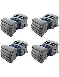 Lavazio® 10   20   30   50 Paar Herrensocken Tennissocken, Sportsocken, Arbeitssocken schwarz weiß grau blau jeans Töne