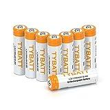 TYBATT Batterie Ricaricabile, precaricate,1200 cicli Pile Ricaricabili AA NI-MH 1700mAh 1.2V Confezione da 8 Pezzi
