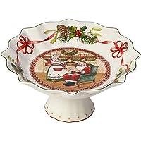 Villeroy /& Boch Toys Fantasy Fuente para Tarta Rectangular Trineo Porcelana Premium Verde//Rojo