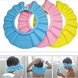 Gorro para Ducha/Baño Suave para Niños para Lavarse el Cabello sin Irritarse los Ojos - En 3 Colores - Amarillo
