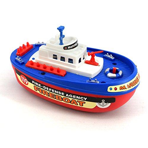 Lustig Musik-Licht-elektrisches Wasser-Spray-Marine-Rettungs-Feuer-kämpfendes Boots-Spielzeug (bunt) für Kinder von SKNSM