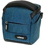 Dorr 456502 Halter Mouvement sac photo pour petite caméra 1x système avec lentilles / petits accessoires (XS) bleu