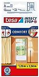 """tesa - Moustiquaire """"Comfort"""" pour portes 2 x 0,65m x 2,50m Blanc"""