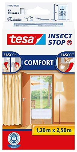 Tesa 55386-00020-00 Zanzariera per Porta, qualità Comfort, Bianco