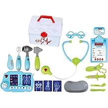Set Dottori per bambini TG663 - Un divertente set Dottori per bambini e bambine, di 18 pezzi, inclusa una macchinetta per Raggi X per giocare ai dottori, creato da ThinkGizmos (marchio protetto)