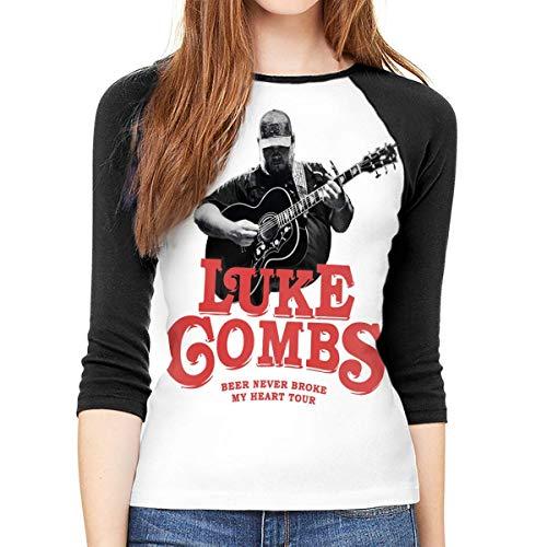 Camiseta Manga 3/4 Cuello Redondo Informal Luke Combs