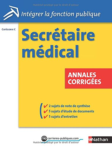 Secrtaire mdical - Annales corriges