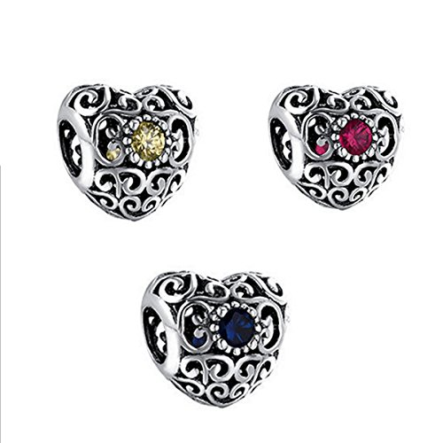 Birthstone-love-heart-charms-fit-pandora-bracelets-with-925-sterling-silver