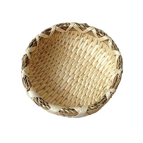 Öko-runde Weidenkorb,Handgewebte rattan storage box bambus bun obstkörbe-Primärfarben 26x8cm(10x3inch) X 26 Bun